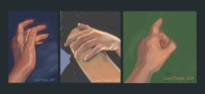 Three Hand Studies by blindedangel