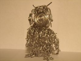 Wire Constructed Owl- Back by Vanghira