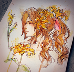 Yellow lily + tutorial by AgentPummel