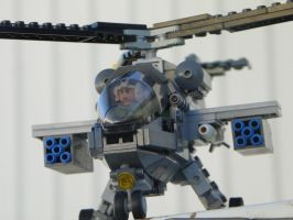 Lego Attack Helicopter by LightbringerCosplay