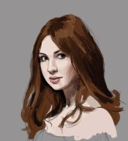 Day 4-Karen Gillan speed paint by Mags-Pi