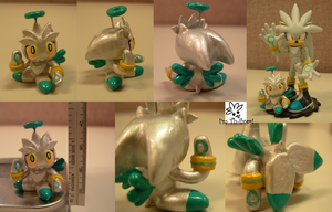 Sculpey: Silver Chao by SaturnGrl