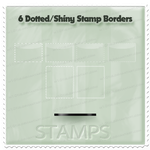 6 Dotted Shiny Stamp Borders by M10tje