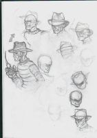 Doodling of Freddy Krueger by Thevakien