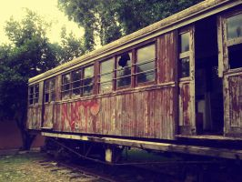 Old train wagon by Christine-E