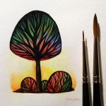 Colorful trees by BluHiroo