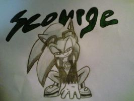 Anti Sonic - Evil Sonic : Scourge the Hedgehog by 1KnucklesTheEchidna1