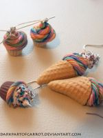 Polymer clay Rainbow sweets by DarkPartOfCarrot