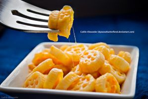 Wagon wheel mac and cheese by Apeanutbutterfiend