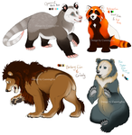 Bear (hybrid) Character adopts by CunningFox