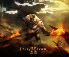 Pug of War by JazzSiyArt