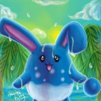 Azumarill by ShushiKitty
