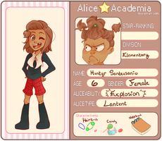 Alice Academia: Huntyr Santeusanio by beariewinkle