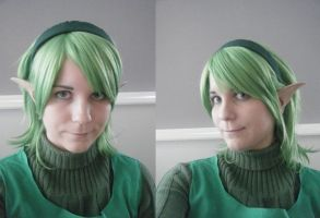 Saria- Wig, ears and make-up test by Leonie-Heartilly