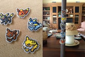 Eeveelution Magnets!! ^0^! by emietheemerald