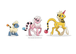 Woolectric Family Ponikemon by MySweetQueen