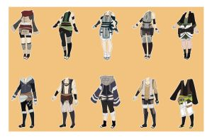 Naruto Outfit Adoptables [CLOSED] by xNoakix3