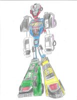 Turbo Megazord Re-animated by bigtimbears