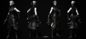 Mercenary - Scarlet Winter(Character Sheet Render) by Rhythem02
