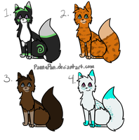 Adoptables [Cats] by PannyPan