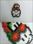 Super Mario Bros Lakita bead sprite by 8bitcraft