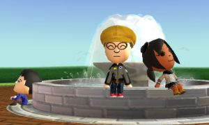 Parker and Tamia at the fountain by GWizard777
