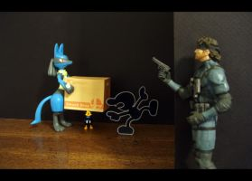 Snake's Surprize to Lucario by AnimatorAR
