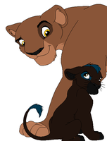 Riley and Her First Cub by charityanna