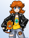 Biker Daisy by rongs1234