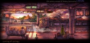 Subway station in Fantasy by kamizH