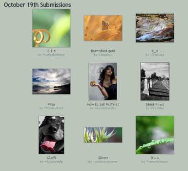 October 19th Submissions by Optimal-Photo