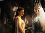 King Thranduil and Arwen by Menkhar
