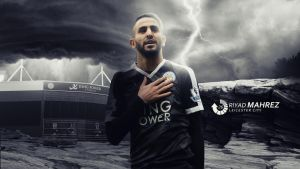 Riyad Mahrez 2015/16 Wallpaper by RakaGFX