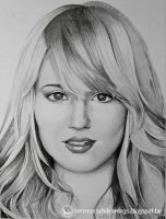 Dianna Agron Portrait by Martin--Art