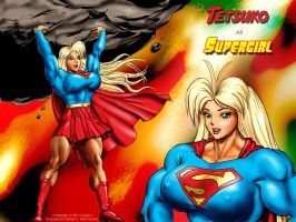 "Tetsuko as ""Supergirl"" by DavidCMatthews"