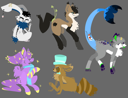 Lineless commissions by Isihock