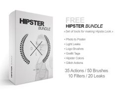 FREE HIPSTER BUNDLE: 35 Actions / 50 Brushes / ... by MrSuma