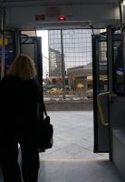 Through the Bus Doors 8 by bowtiephotography