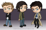 Dean, Sam, and Cas by Starforsaken101