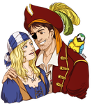 Commission: Melody and Ravenwood by M-I-D-S