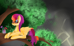 .:Art Trade:. Tropical Storm by LunarCatherine