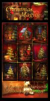 Christmas Magic Backgrounds by moonchild-ljilja