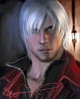 Dante in Devil may cry 4 by xiaofeihui