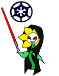 Undertale Star Wars Flowey the evil Sith Lord by florapolitis
