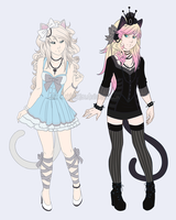 Ina and Nika Ref Sheet New *Added Info* by ChibiChise