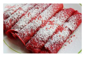 Red Velvet Crepes by VintageWarmth