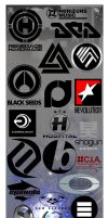 Drum and Bass Labels Pack by zeca3D