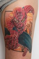 spiderman tattoo by graynd