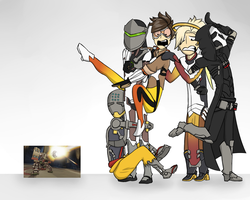 Draw The Squad Again! [Overwatch] by sonicgeek22
