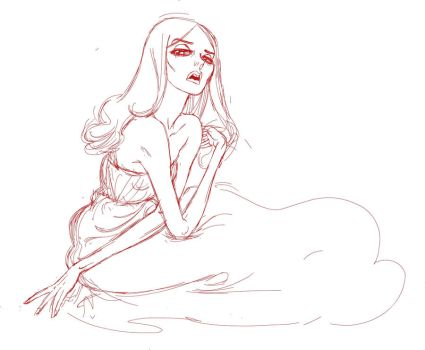Sketch of Ann Ward by Tres-Fabulous